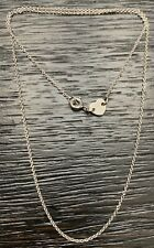 """Pasquale Bruni 18K Solid White Gold 16"""" Chain Necklace 2.2 Grams"""