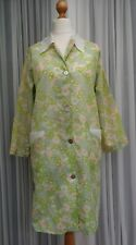 """Nylon Ladies Overall 60,s 70,s Delamare Lime Green Floral Size OS Bust 40-42"""""""