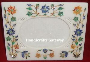 Handicraft Marble Inlay Design Picture Frame, Decorative Marble Photo Frames