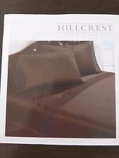 4 pc Hillcrest Crochet Scallop King Sheet Set NIP