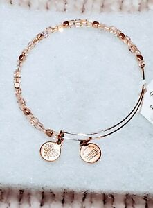 Alex & Ani Rose Gold Moonstone Iridescant Shimmer +Energy Infused💖Very Sparkly