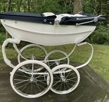 Silver Cross Heritage Childs Toy Pram White & Navy Blue NWB *Great Gift!