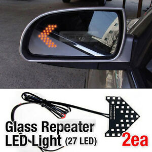 Side View Mirror Turn Signal Glass Repeater LED Module Sequential For PONTIAC