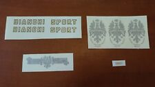 SET COMPLETO DECALCOMANIE BIANCHI SPORT LERICI DECALS STICKERS PELEKAT ステッカー