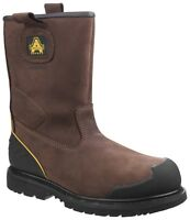 Amblers FS223C Waterproof Composite Brown Safety Rigger Boot
