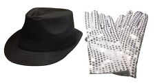 Michael Jackson Replica Fedora Hat and Sequin Glove Adult Size Cosplay Set