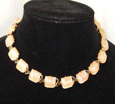 CORO - Gold Tone & Peach Choker & Bracelet