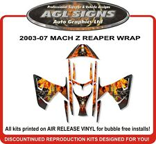 GRIM REAPER SLED WRAP for SKI-DOO MACH Z SUMMIT 1000  mxz decal graphic