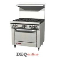 "Southbend S36D 36"" Gas Range W/ Standard Oven & 6 Open Burners"