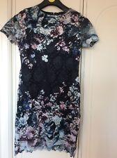 Ladies Lipsy BNWOT Size 8 Navy/multi Colour Lace Dress RRP £55