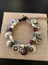 Uno De 50 Beaded charms Leather Bracelet - New collection - Esmeralda