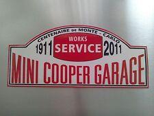 "Monte Carlo Rally Style Mini Cooper Garages 11"" x 5"" Bonnet sticker"