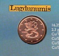 Pièces euro de la Finlande pour 1 Euro année 2000