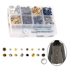 200pcs S-Spring Press Studs Buttons with Hand Tool Sewing DIY Jackets Purses