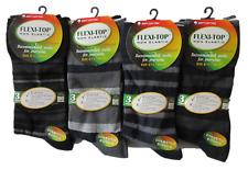 Hogan Wholesale 12 Pairs Flexi-Top Non Elastic - Dark Stripe - Size 6-11 Cotton