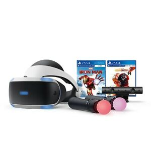 PlayStation VR Iron Man Star Wars Bundle PS4 PS5 Headset + Camera + Controllers