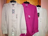 NWT NEW mens VAN HEUSEN l/s flex collar dress shirt $50 retail