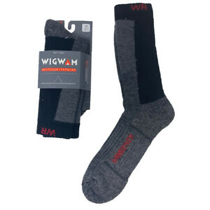 Wigwam I7761 - Men's Windriver Merino Wool Crew Socks - Black/Chrcl - Closeout