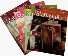 All 4 Stamping Art Magazines, Woodware Collectors Edition Bundle (out of print)
