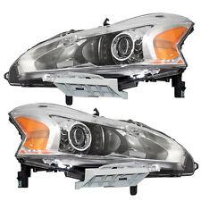 For Nissan Altima 13-15 Left & Right Headlights Headlamps Pair Set Sedan Halogen