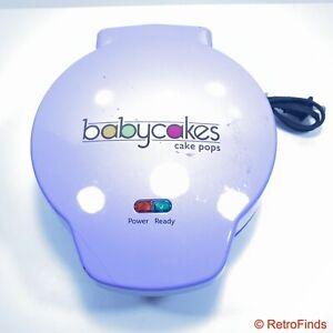 Babycakes Cake Pop Donut Hole Maker 12 Pack Capacity Purple Kitchen Equipment
