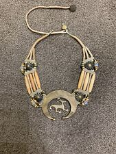 Mummy's Bundle Brass Necklace Fetish Vtg Rare 80s Doug Mary Hancock