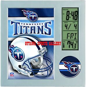 WINCRAFT TENNESSEE TITANS LICENSED DESK CLOCK • NEW IN PACKAGE (CL1)