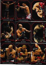 2011 Topps UFC Finest 100 Card Set & Finest Atomic Refractors 25 Card Insert Set