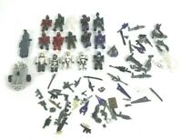 Halo Mega Blocks Lot 16 Characters Misc Parts Toys Action Figures Sci Fi EUC