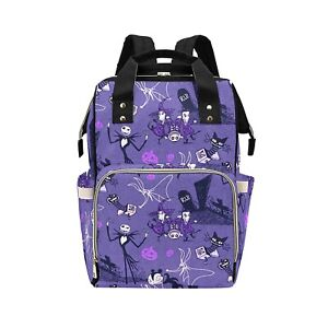 Purple Jack Skellington NBC Baby Changing Diaper Backpack Rucksack Bag