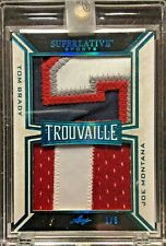 2020 Superlative Trouvaille Tom Brady Joe Montana Game Used Jersey Patches 1/5