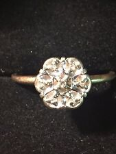 Antique 10K Yellow Gold Diamond Cluster Ring~Size 6 1/2 ~1.4 Grams~Timeless!