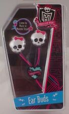 NEW Monster High EARBUDS EAR BUDS Headphones Works w/ iPod iPhone MP3 MP4 Games