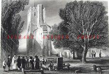 SAINT MICHAEL'S CHURCH ST. ALBANS ~ 1851 Art Engraving
