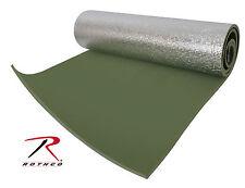 "New Rothco Thermal Reflective OD Foam Sleeping Bag Pad w/ Straps 71"" X 24"""