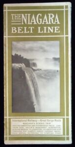 "Niagara Belt Line Brochure, 8 1/2"" X 32"" Color Foldout of Falls & Gorge, 1915"