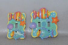 Set Of 2 3D Tropical Fish Beach Sea Life Light Switch Plates Boarders Limited