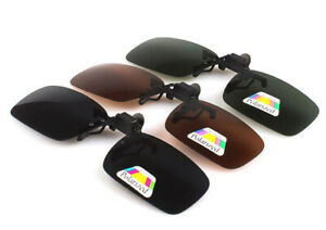 Polarised Clip On Flip Style Sunglasses UV400 Polarized Fishing Eyewear Case UK