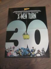 Promo Poster - Uncanny X-Men Turn 30 - Wizard Magazine - 1993 Marvel Comics