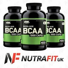 OPTIMUM NUTRITION MEGA-SIZE BCAA 1000 400 capsules branched chain amino acids