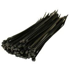 Strong Heavy Duty Black Plastic Cable Ties / Tie Wraps 244mm x 4.8mm