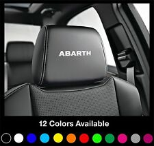 6x ABARTH Logo Headrest Car Seat Decals Badge Sticker Fiat Punto 500 500C 500L
