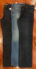 Old Navy Lot of THREE PAIR Jeans~ BOYS~Size 14 REG~NWT -NEW~Straight&Skinny NWT