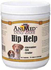 AniMed Dog Care Hip Help 120 Day Supply With Glucosamine, MSM & Creatine.