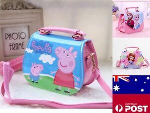 Kids/Girls Toddler Princess Handbag Shoulder Bag Peppa Pig FrozenCrossbody Purse