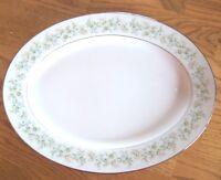 "Noritake Savannah 13.5"" Oval Platter with Platinum Trim  Excellent! Vintage  102"