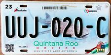 ROO MEXICO License plate Expired Graphic Background  CANCUN WHALE SHARK !!!