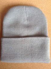 Men's Women Beanie Knit Ski Cap Hip-Hop LIGHT GREY Winter Warm Unisex Hat