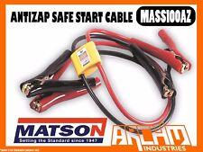MATSON MASS100AZ JUMPER LEADS ANTI ZAP 10MM2 2.4M - BATTERY AMP CLAMPS INSULATED