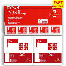 100x 1st Class LARGE Royal Mail Postage Stamps BRAND NEW First SALE SEALED PACKS